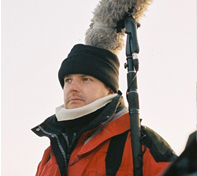 James Kenning Sound Recordist in the artic circle working on Alive, Lost in Snow